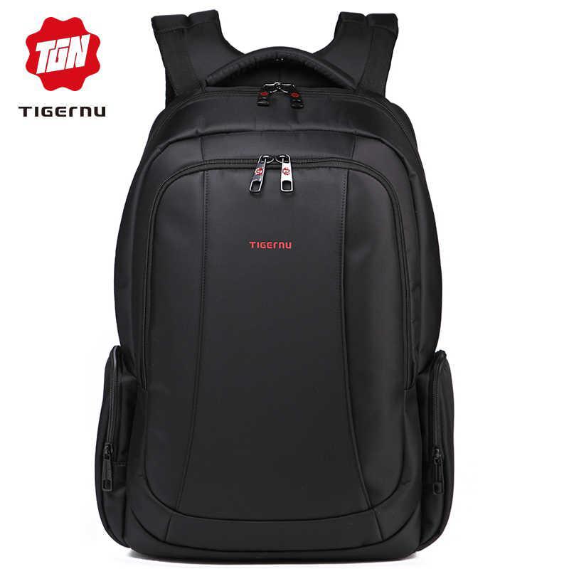 3ebaf091d439 Tigernu мужские рюкзаки дорожные сумки водонепроницаемый нейлон черный  школьный рюкзак мужской 15.6 дюймов ноутбук сумка рюкзак