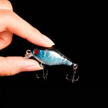 WALK FISH 1PCS 4cm 4.3g Hard Plastic Crank Baits 3D Fish Eye Minnow Fishing Lures with Treble Hooks Bass Fishing Tackle
