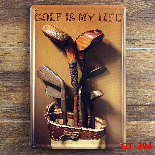 Golf Is My Life Vintage Metal Posters Retro Mural Painting Souvenir Home Wall Plaque Bar