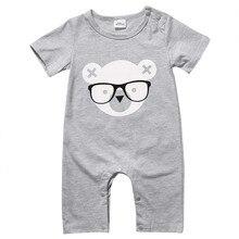 Новинка; стильная одежда для новорожденных мальчиков и девочек; комбинезон с короткими рукавами; комбинезон; одежда для малышей