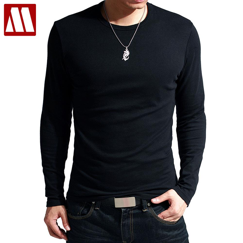 Newest fitness men long sleeve slim fit t shirt men for Long sleeve fitted tee shirt