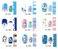 1Pc 14Tips Doraemon Nail Stickers Cute Cartoon Environmental 3D Full Cover Nail Art Decorations Design QJ1057-1068