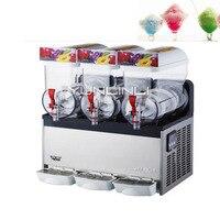 600W Snow Melting Machine Beverage Ice Machine Three Tanks of Commercial Slush Machine Beverage Ice Frozen Juicer XRJ15X3