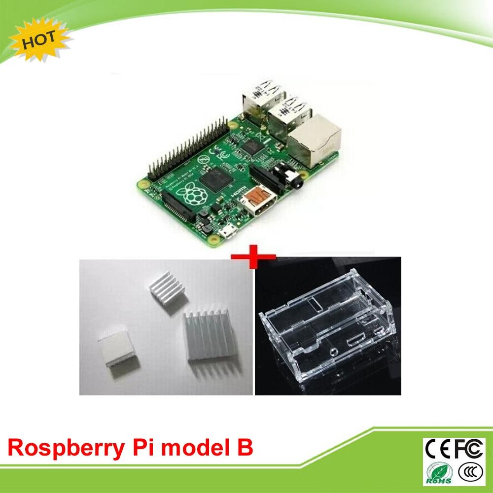 3 in 1 rev 3.0 512 RAM raspberry Pi model B+ project board + 3 heat sinks + 1 board case industrial equipment board pca 6114p10 b rev b1
