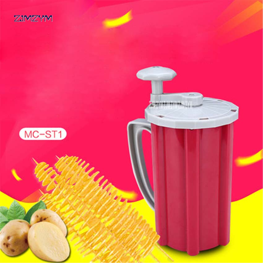 MC-198 Manual Potato Slicer Twisted Spiral Potato Cutter Vegetable Potato Tower Machine ABS,Stainless Steel Blade Food Processor руководство twisted картофеля фри из нержавеющей стали slicer овощей