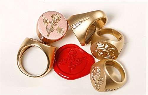 Online Shop Custom Design Luxury Golden Wedding Ring Logo