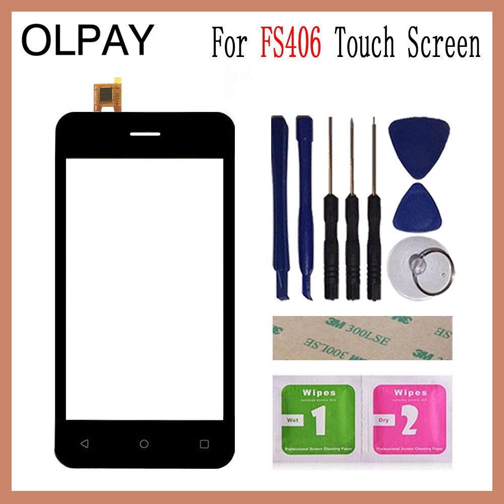 OLPAY 4.0 inch Tested Front Outer Glass For Fly FS406 FS 406 Touch Screen Digitizer Panel Lens Sensor Tools AdhesiveOLPAY 4.0 inch Tested Front Outer Glass For Fly FS406 FS 406 Touch Screen Digitizer Panel Lens Sensor Tools Adhesive