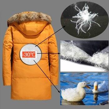 5XL White Duck Down Jacket 2019 Women Winter Goose Feather Coat Long Raccoon Fur Parka Warm Rabbit Plus Size Outerwear WJM19 4
