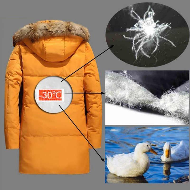 5XL 白アヒルダウンジャケット 2019 女性の冬羽毛コートロングアライグマの毛皮のパーカー暖かいウサギプラスサイズ上着 WJM19