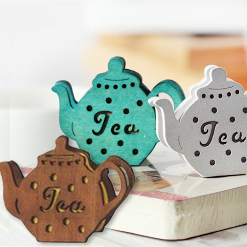 European And American Style 4.5 * 5.5cm Retro Teapot Message Clip Stickers Business Card Holder Garden Style Home Decoration