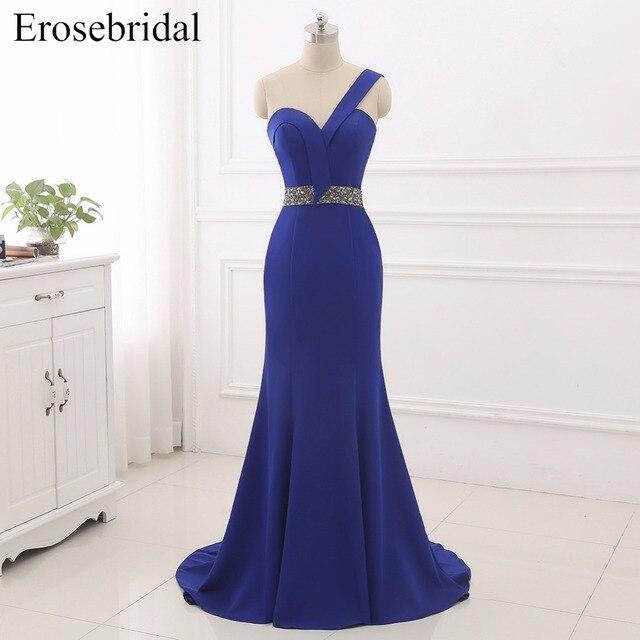 2019 Mermaid Evening Dresses Erosebridal New Formal Women Gowns Prom Dress One Shoulder Vestido De Festa Zipper Back