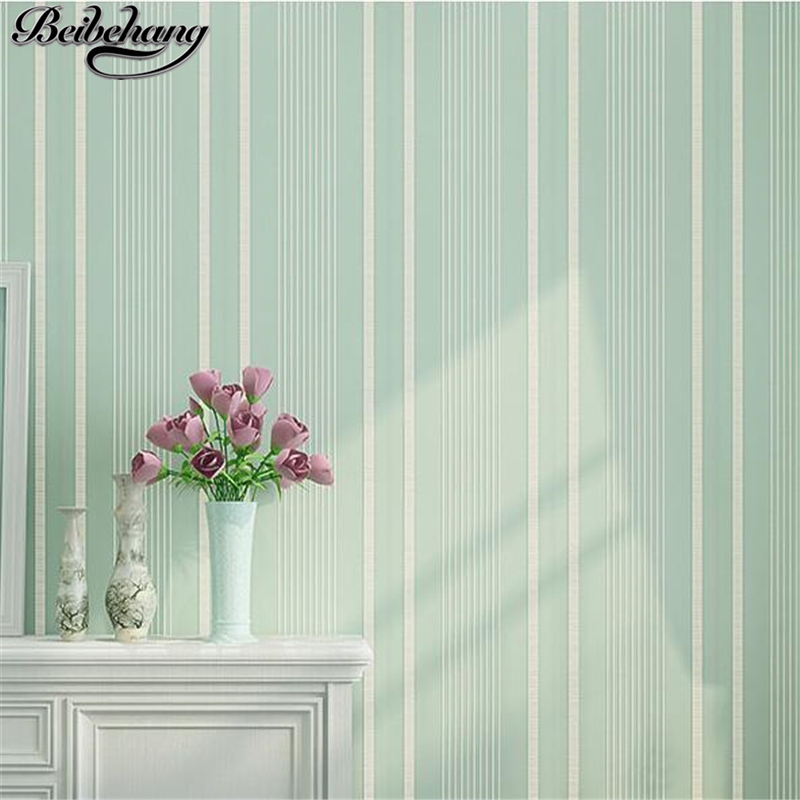 beibehang Non-woven solid color wallpaper plain vertical stripes living room bedroom modern simple wallpaper 3d relief warm 0 53x10m modern blue gray green simple non woven wallpaper living room bedroom wedding room shop decoration wallpaper