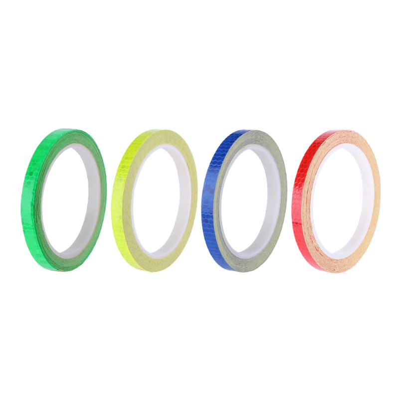 8m Reflective Tape Fluorescent MTB Bike Bicycle Cycling Motorcycle Stickers Strip Decal Tape Safety Waterproof