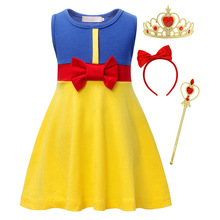 AmzBarley Girls Snow White Dress Kid Princess costume Halloween Birthday Party Cosplay Outfit 2-10T girls summer Bowknot clothes women girls superhero alien starfire teen titans go outfit cosplay halloween costume princess koriand r suit xmas birthday gift