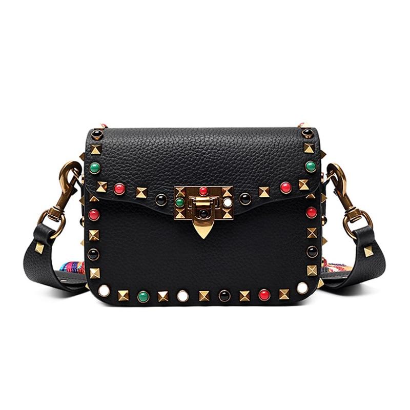 ФОТО 2017 Luxury handbags women bags designer crossbody bags for women fashion stud shoulder bags famous brand women messenger bags