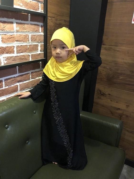 2019 new arrival autumn fashion style muslim small girl plus size abaya
