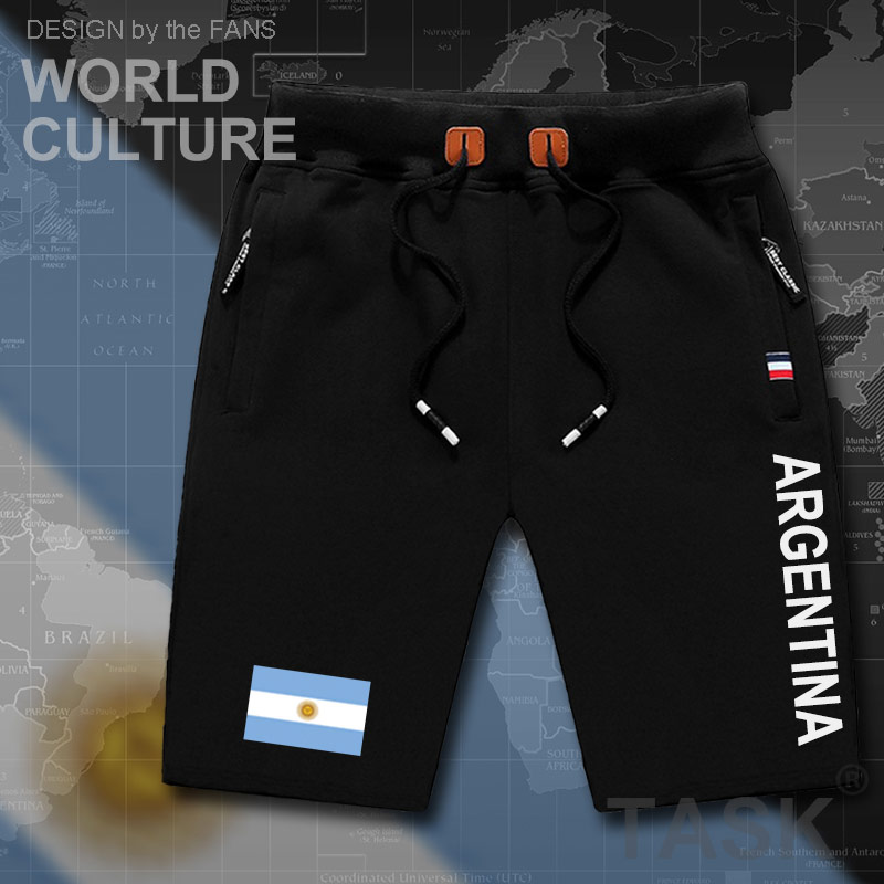 Argentina Mens Shorts Beach New Men's Board Shorts Flag Workout Zipper Pocket Sweat Flag Colthing 2017 Argentine Argentinian AR