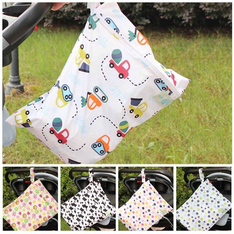 Beliebte Marke Neue Baby Neugeborenen Zipper Windel Lagerung Drucken Taschen Tragbare Freien Wasserdichte Kinderwagen Organizer