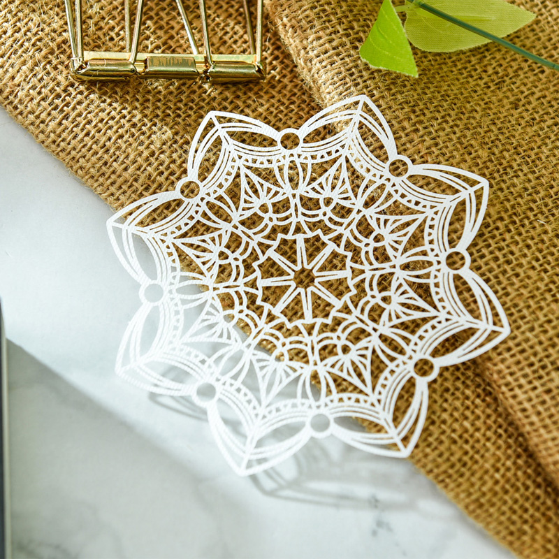 KSCRAFT White Lace Paper Doilies/Placemats for Wedding Party Decoration Supplies Scrapbooking Paper Crafts 2
