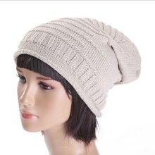 Новый 2016 женщин Шляпы Осень Зима Шляпа Акрил Трикотажные Твердые Шапочки Мода Косу Hat Осень Женщина HT51051 + 35