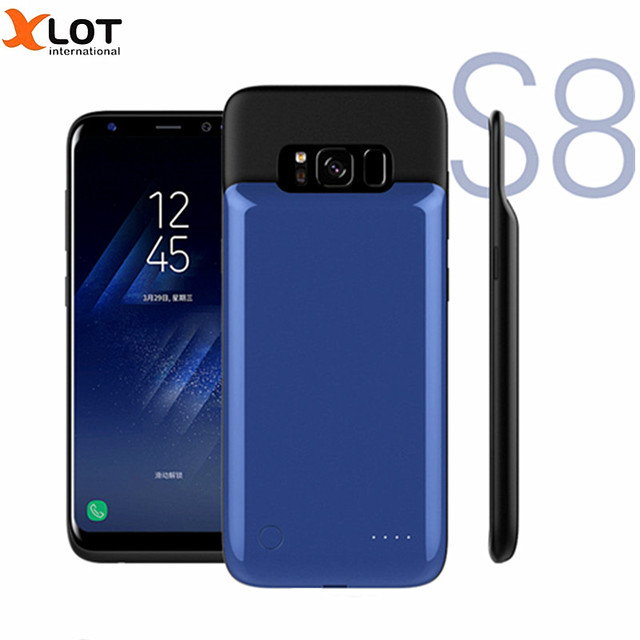 samsung s8 charger case blue