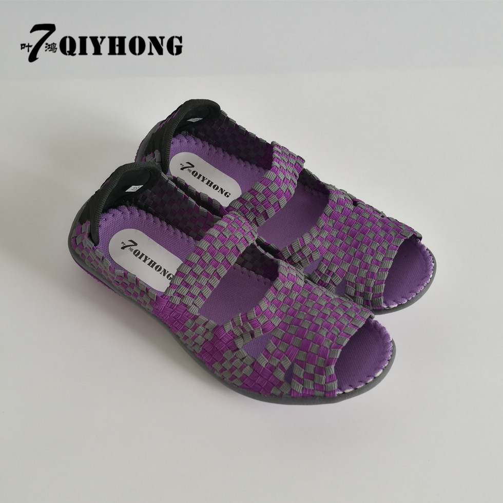 QIYHONG Brand Summer Breathable Handmade Fashion Women Shoes Comfortable High Quality Women Woven ShoesBreathable Casual Shoes 2016 year end clearance sale women casual shoes summer lady soft fashion shoes high quality breathable shoes mm x02