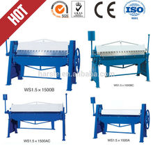2mm manual plate folding machine/ manual sheet bending machine