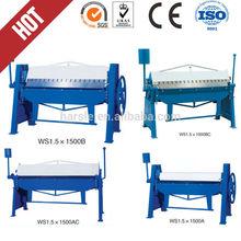 2mm manual plate folding machine/ manual sheet bending machine