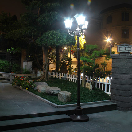 High Quality Solar Outdoor Garden Pole Lamp Europe Style Led Road Light Landscape Lighting Fixture In Lamps From Lights