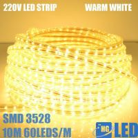 DHL FEDEX FREE SHIPPING +30M 220V High voltage 2835 led fstrip light+Power plug,warm white,60leds/m,4.8w/m,waterproof IP65