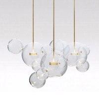 KINLAMS Post Moderne Kreative Klarglas Bubble Ball Anhänger lampe für esszimmer wohnzimmer bar LED Glas Hängen lampe