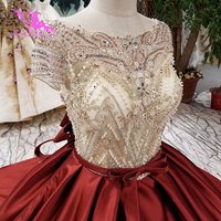AIJINGYU Mature Wedding Dresses Peach Dress Lace For Sale Marriage Free Shipping Plus Size Corset Gowns Women Wedding Gown