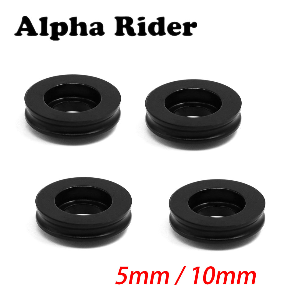 4 Pcs 5mm Black Radial Brake Calipers Spacers for GSXR R1 R6 ZX6R ZX10R CBR