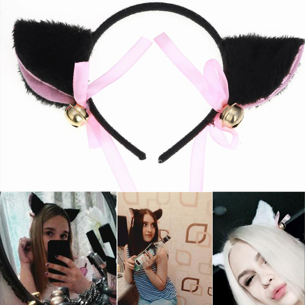 New Cosplay Lovely Night Party Club Bar Decorate Headbands Plush Cat Fox Fur Ear Hairband Girls Anime Costume Cat Ear Hairwear