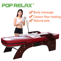POP RELAX thermal massage bed full body electric heating spine relax massager health care rolling Korea jade roller massage bed