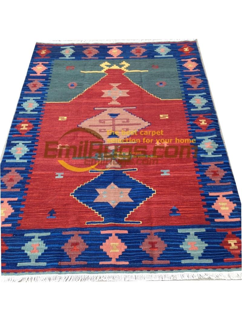 handmade wool kilim rugs living room rug bedroon bedside blanket corridor Mediterranean style 43gc131kilimyg4
