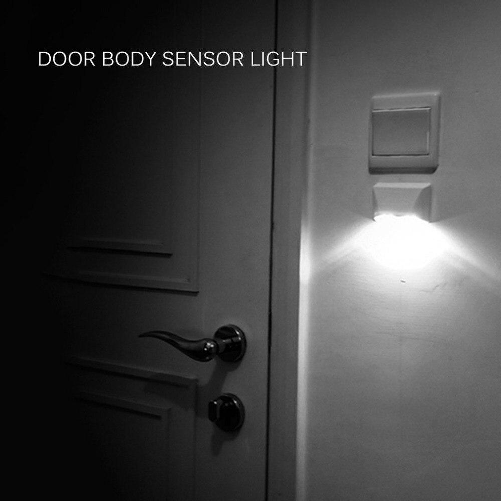 Down Basement Stairs Lighting: 4 LED Body Motion Sensor Wall Light Led Night Light