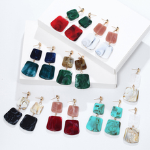 2019 New Acetate Earrings Korean Temperament Wild Minimalist Geometry Womens Beautiful Acrylic Pendant