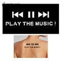 1 Sheet Small Henna Tattoo Indian Stencil Music Play Button Word Design Women Back Body Art Painting Mehndi Tattoo Template G154