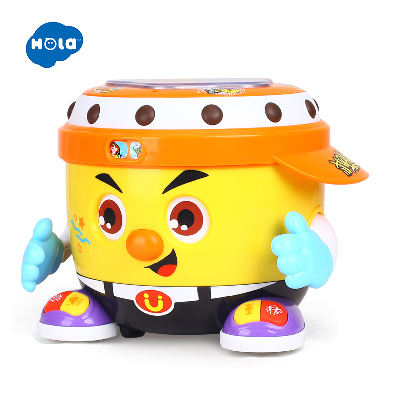 HOLA 6107 bébé jouet DJ fête tambour jouet avec musique et lumière apprentissage jouets éducatifs pour les enfants - 6
