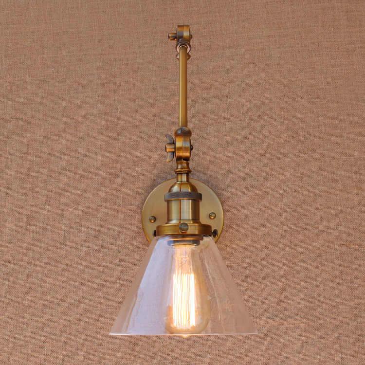 Ретро латунь Регулируемая длинная рука настенный светильник Винтаж светодиодный лестницы свет Лофт Стиль промышленные настенные Apliques Murale светодиодный настенный