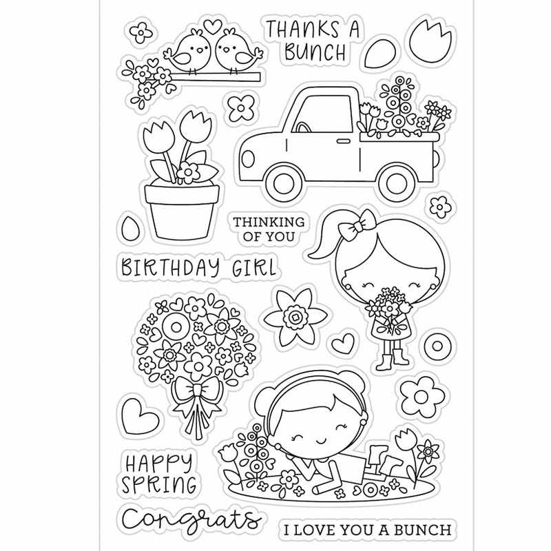 My garden hand grow Transparent Clear Silicone StampSeal for DIY scrapbookingphoto album Decorative clear stamp sheets