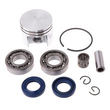 1Set Piston Pin Rings Kit Crankshaft Bearing Oil Seals Gasket Kit for STIHL 018 MS180 Chainsaw Parts Accessories new 38mm cylinder piston kits with fuel filter oil pump needle bearing for stihl ms180 018 chainsaw