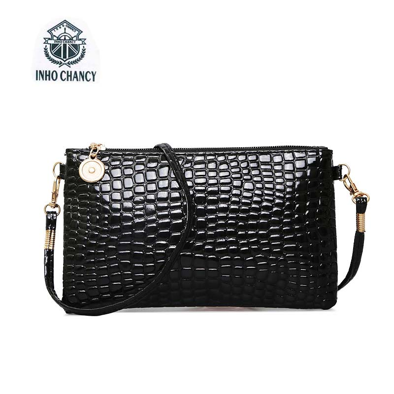 S Women Crocodile Pattern Messenger Bag Designer Clutch Fashion Patent Leather Handbags Crossbody Shoulder Bags Bolsas Feminina