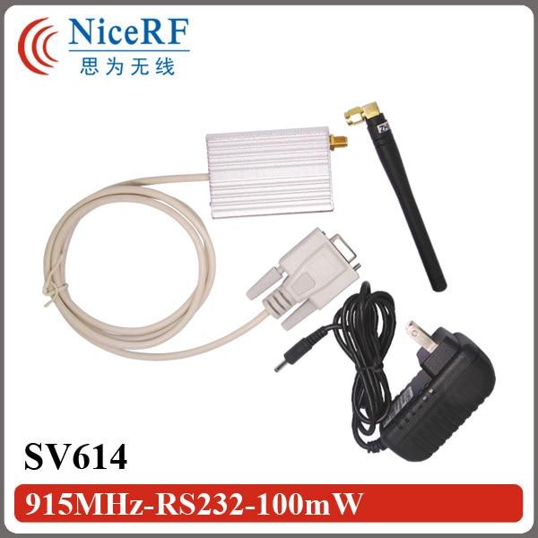 2бр / лот SV614 1400m Разстояние 433MHz 100mW RS232 / - Комуникационно оборудване - Снимка 1