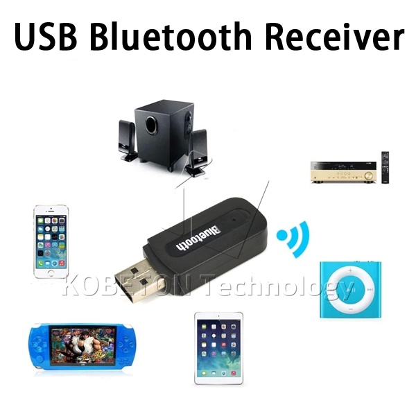 3.5mm Wireless Bluetooth Music Stereo Audio Receiver Car Auto AUX Dongle Adapter