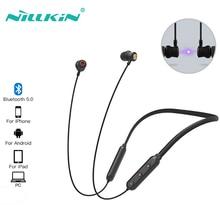 Беспроводные наушники Bluetooth наушники NILLKIN 3D стерео водонепроницаемые наушники Bt 5,0 наушники с ремешком для шеи для игр бега спорта