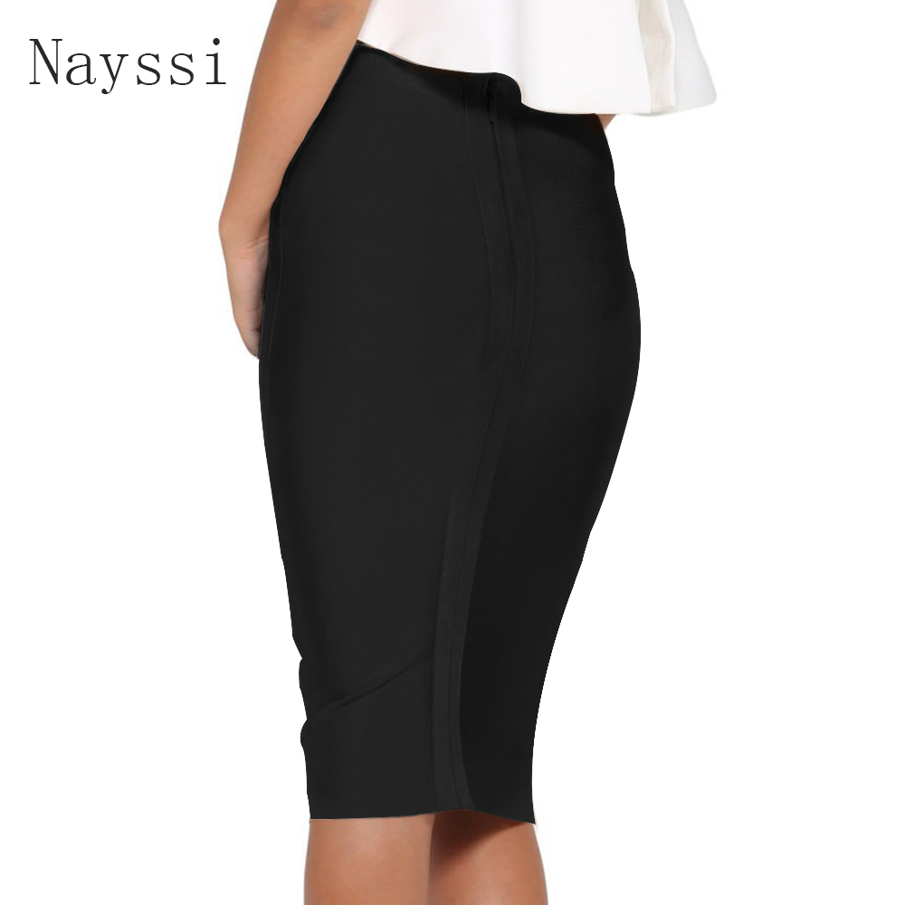 Nayssi 2019 Bandage Skirt Sexy Striped Knee-Length Wear To Work Wholesale