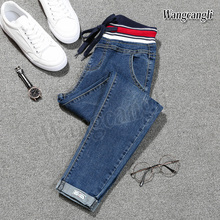 wangcangli 2018 spring Jeans for women large size 5XL feet Harlan taille haute femme