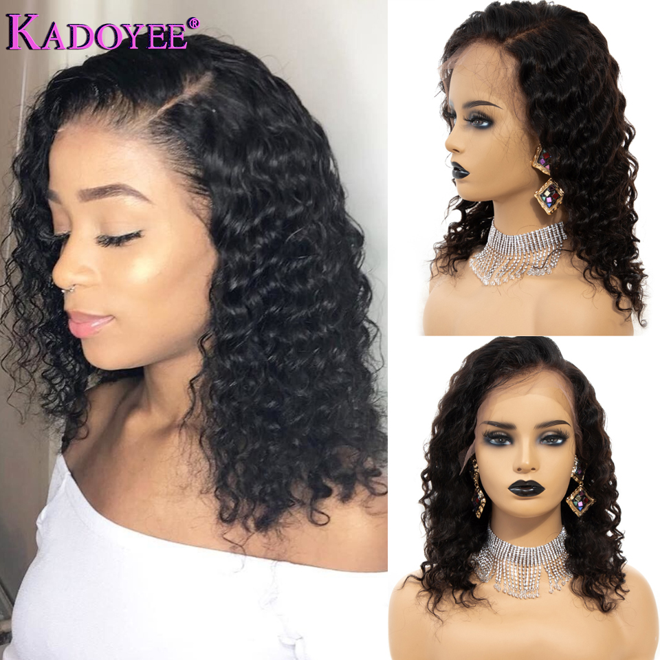 Short Bob Curly Lace Front Human Hair Wigs For Black Women With Baby Hair Deep Curly Wave Lace Wig Haircut Glueless Pre Plucked